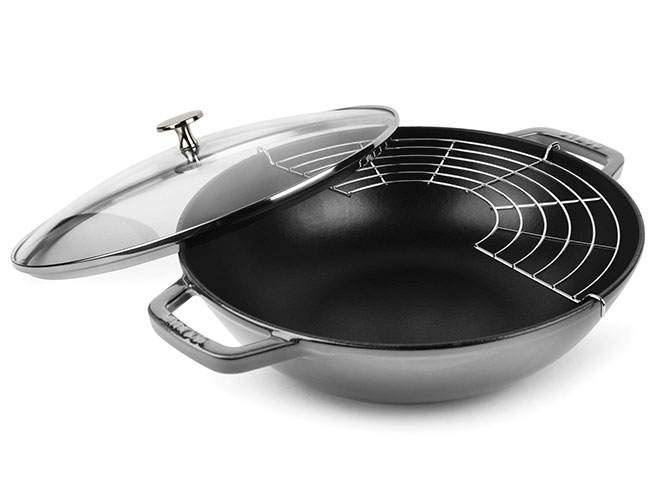 "Staub 12"" Graphite Gray Perfect Pan"