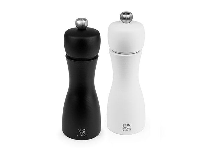 "Peugeot Tahiti 6"" Black/White Matte Salt & Pepper Mill Set"