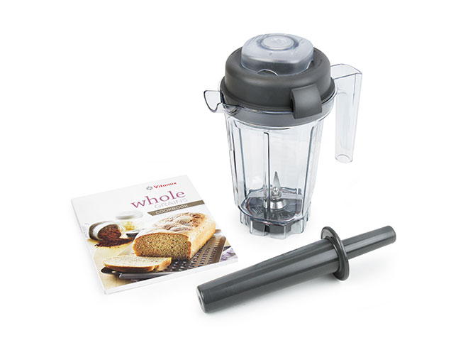 Vitamix 32oz Dry Blade Container with Whole Grains Cookbook & Mini-Tamper