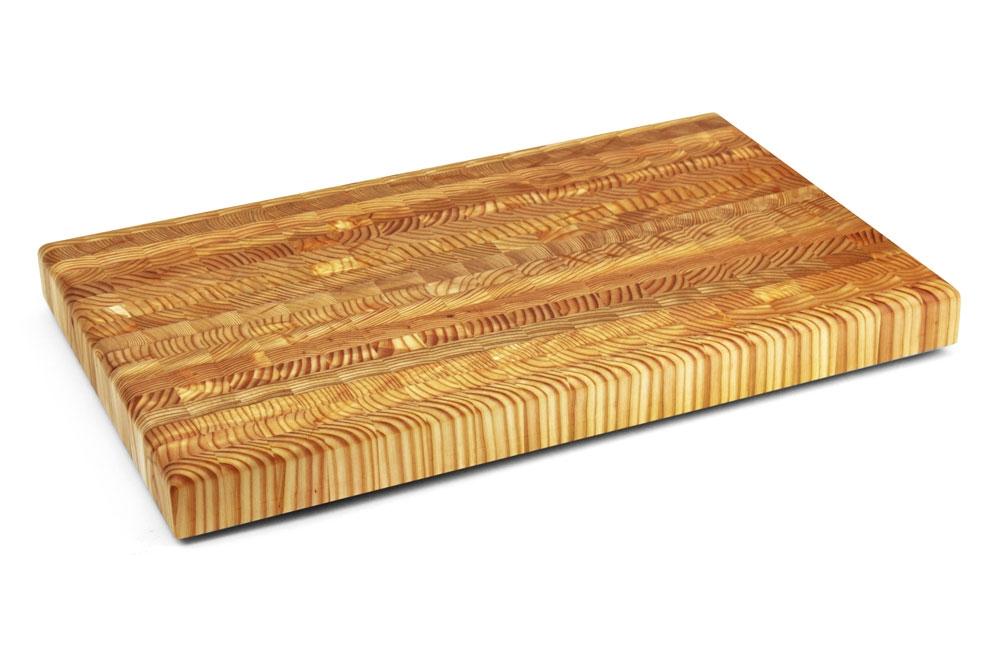 """Larch Wood 21.625x13.5x1.75"""" End Grain Cutting Board"""