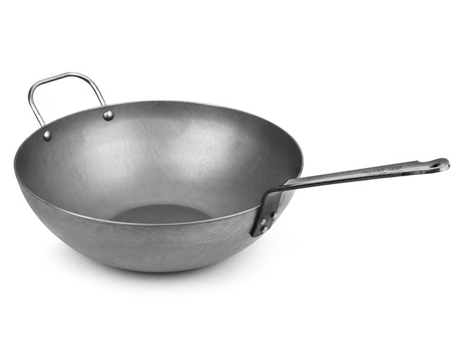 "Mauviel M'steel 11.8"" Carbon Steel Wok"