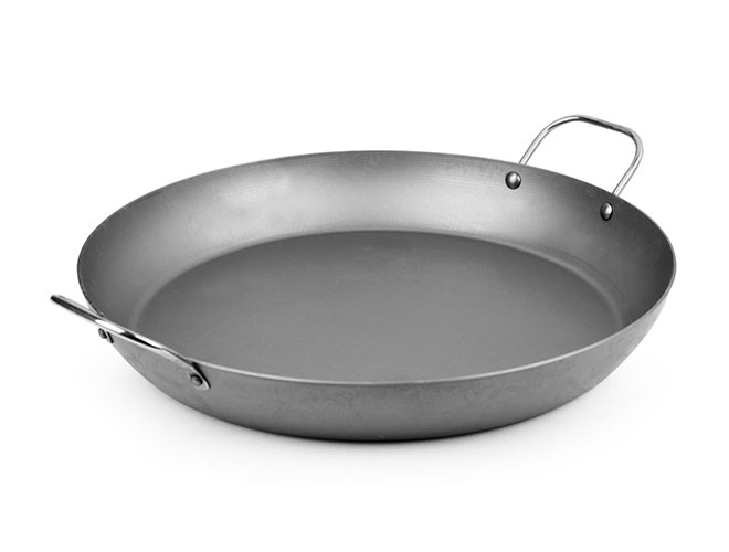 "Mauviel M'steel 14"" Carbon Steel Paella Pan"