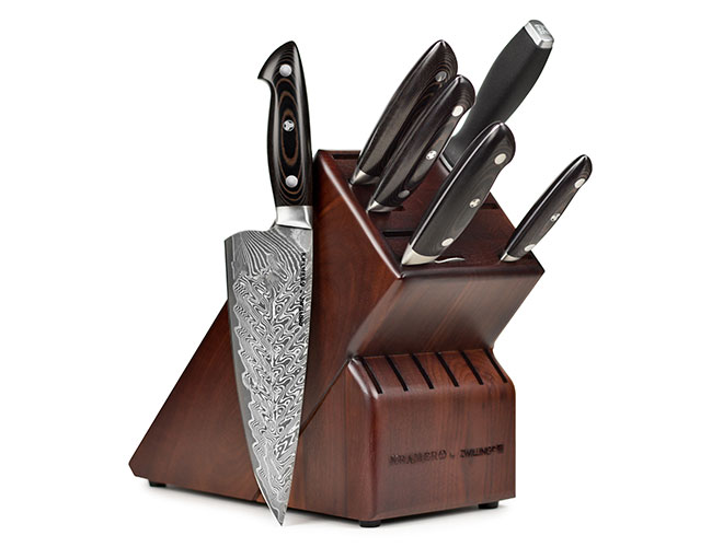 Kramer by Zwilling Stainless Damascus 7 Piece Knife Block Set