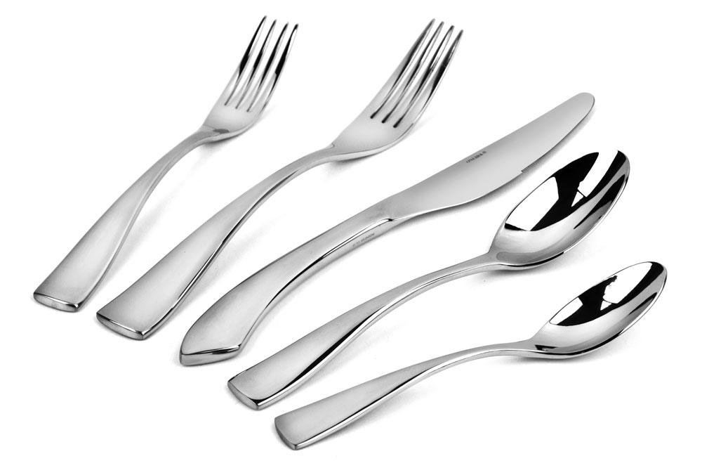 Oneida Curva Stainless Steel Flatware Set 20 Piece