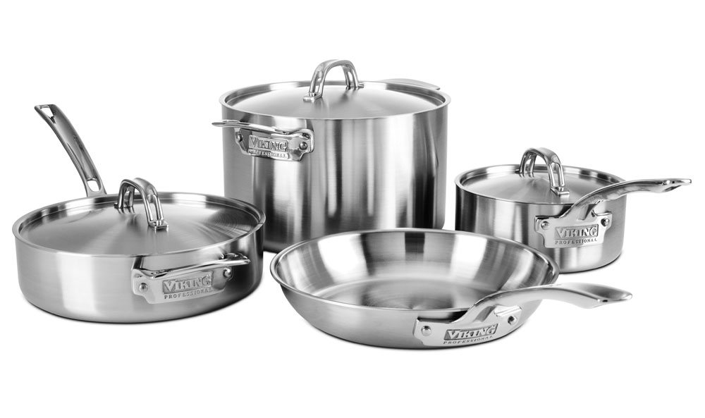Viking Professional 5 Ply 7 Piece Stainless Steel Cookware Set