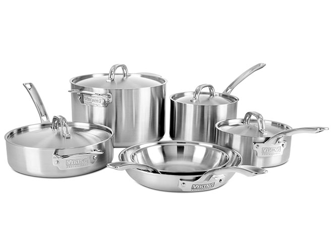 Viking Professional 5-ply 10 Piece Stainless Steel Cookware Set