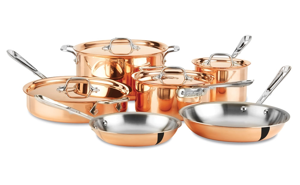 All Clad C2 Copper Clad Cookware Set 10 Piece Cutlery
