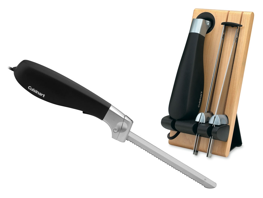 "Cuisinart 8"" Electric Knife with Bread & Carving Blades"