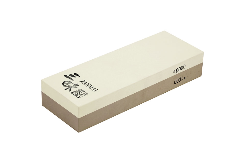 "Zanmai 8.125x3x1.5"" 1000 & 6000 Combination Grit Japanese Whetstone"