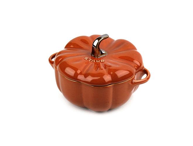 Staub Ceramic 0.5-quart Burnt Orange Petite Pumpkin Cocotte