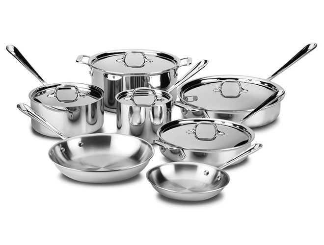 All Clad D3 Stainless Cookware Set 12 Piece Cutlery And