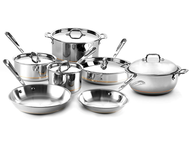 All-Clad Copper Core 12 Piece Cookware Set