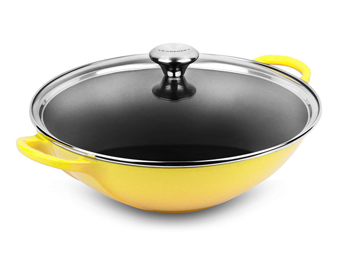 Le Creuset Signature Cast Iron 5-quart Woks with Glass Lid