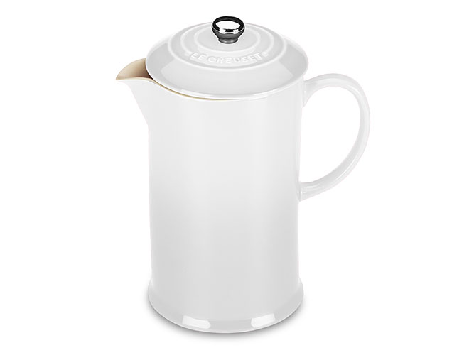 Le Creuset Stoneware 27oz White French Press