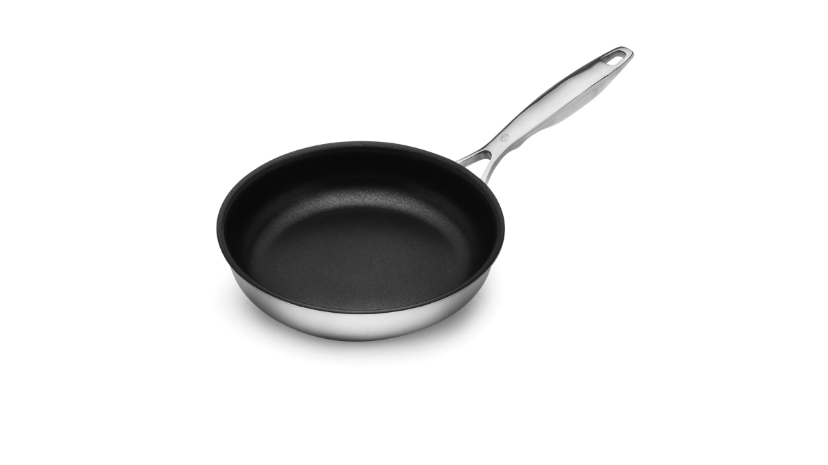 "Swiss Diamond Prestige Clad 8"" Stainless Steel Nonstick Skillet"