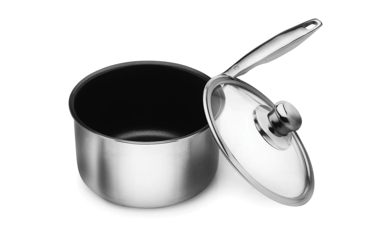 Swiss Diamond Prestige Clad Stainless Steel Nonstick Saucepans