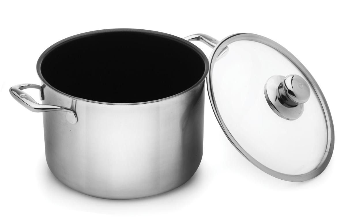 Swiss Diamond Prestige Clad 8-quart Stainless Steel Nonstick Stock Pot