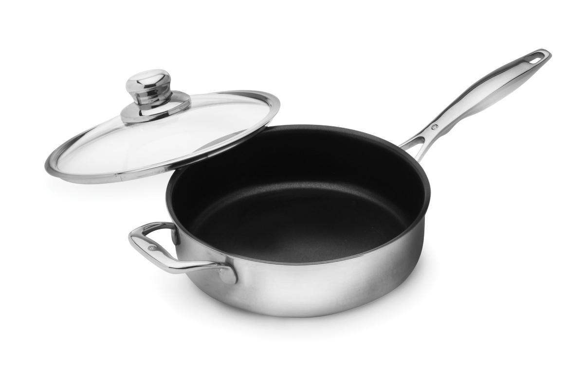 Swiss Diamond Prestige Clad 3.1-quart Stainless Steel Nonstick Saute Pan