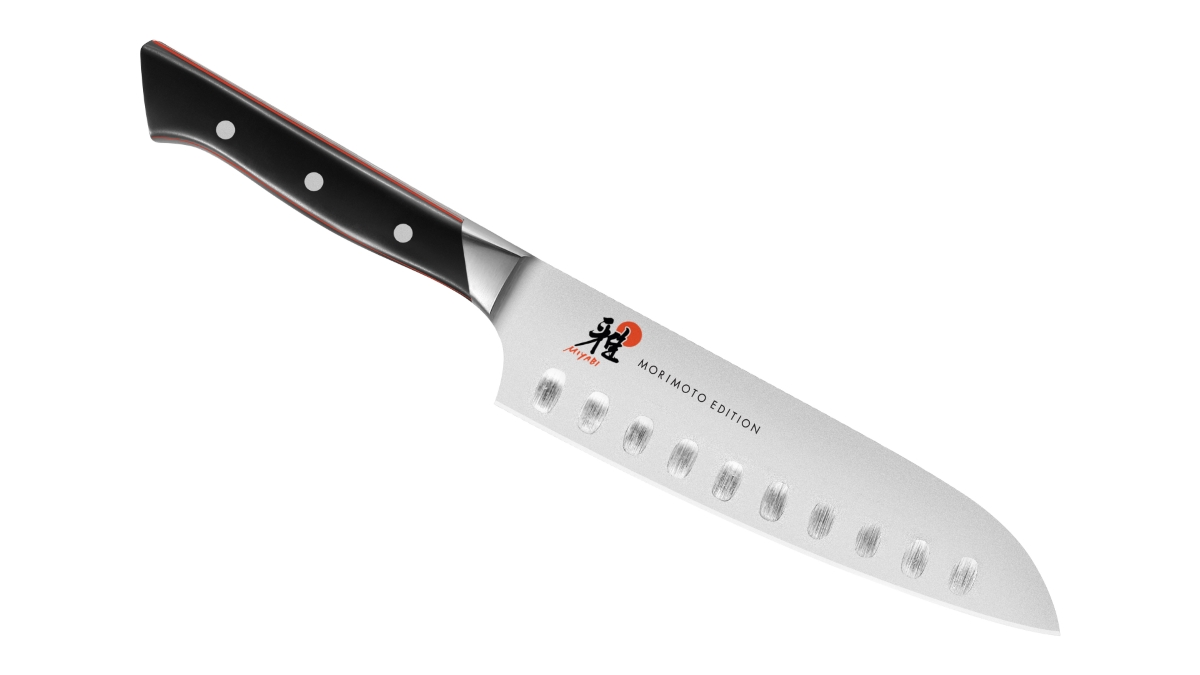 "Miyabi Morimoto 600S 7"" Hollow Edge Santoku Knife"