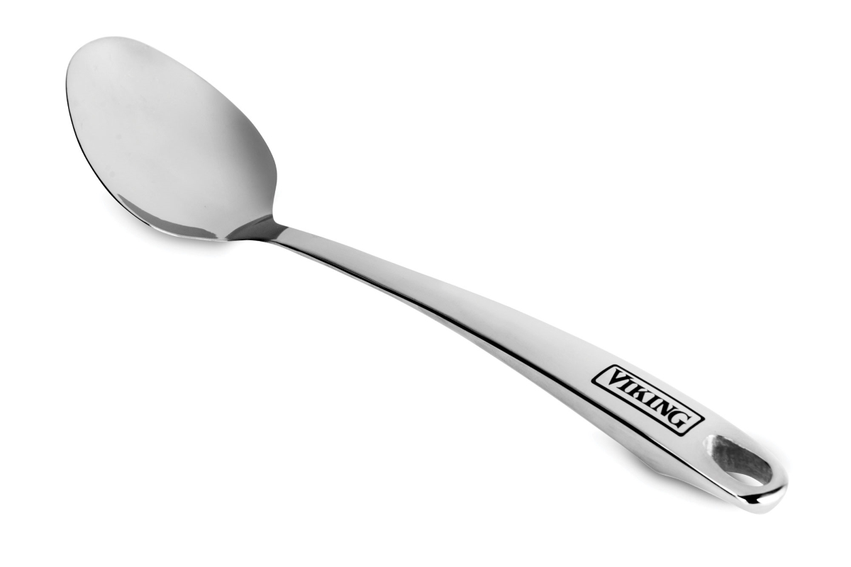 "Viking 14"" Stainless Steel Solid Spoon"