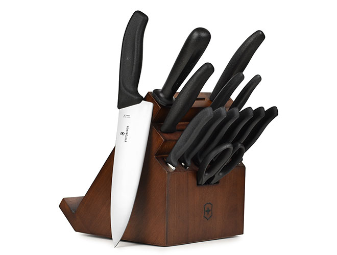 Victorinox Swiss Classic 14 Piece Walnut Swivel Knife Block Set