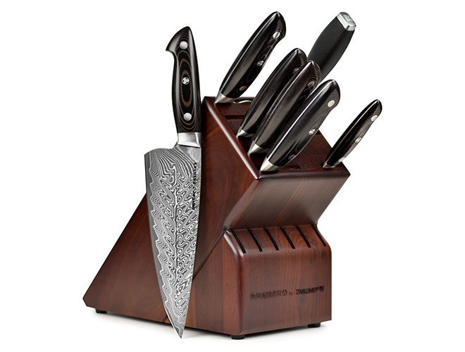 Kramer by Zwilling Stainless Damascus 8 Piece Knife Block Set