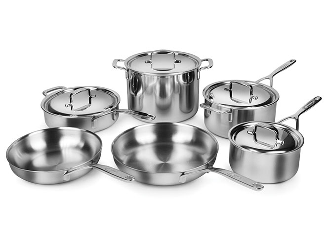 Demeyere 5-Plus 10 Piece Stainless Steel Cookware Set