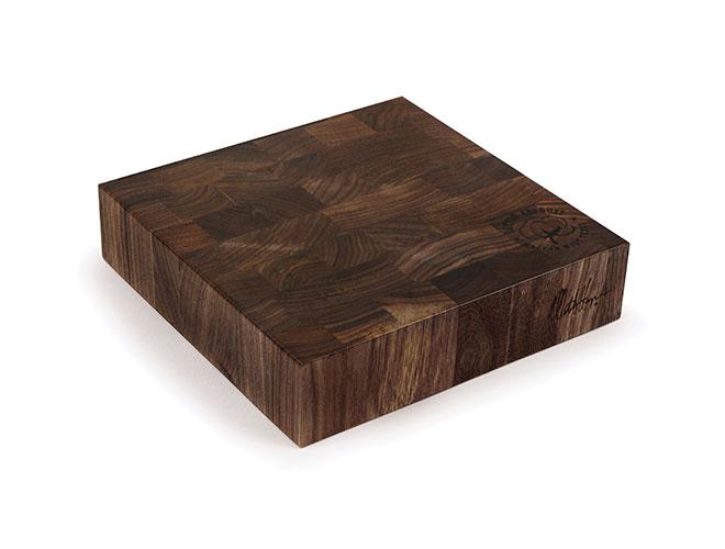 "Cotton and Dust 9x9x2"" The Karen End Grain American Black Walnut Cheese Board"