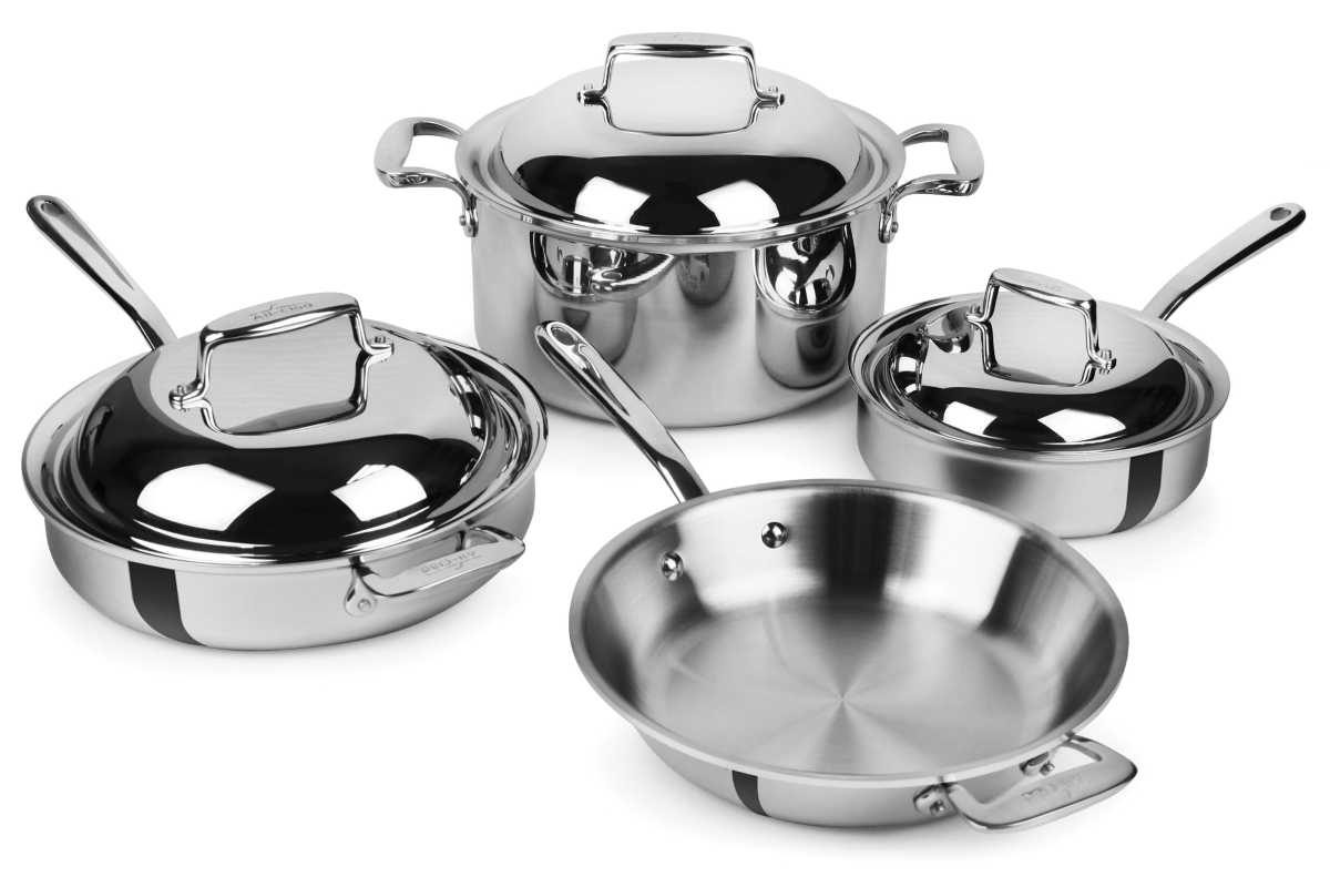 All Clad D7 Cookware Set 7 Ply Stainless Steel 7 Piece