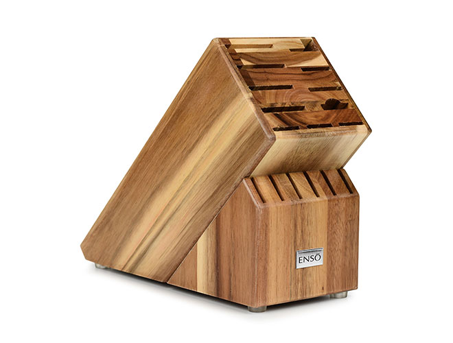 Enso 17 Slot Acacia (Light) Knife Block
