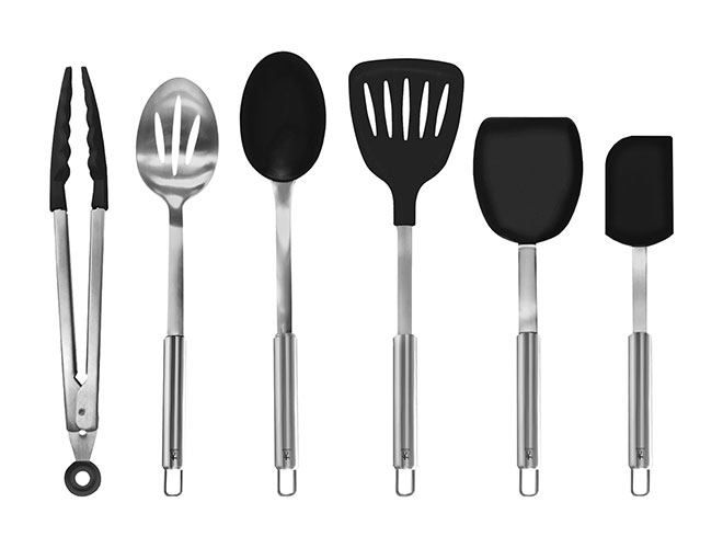 Henckels International 6 Piece Stainless Steel & Silicone Utensil Set