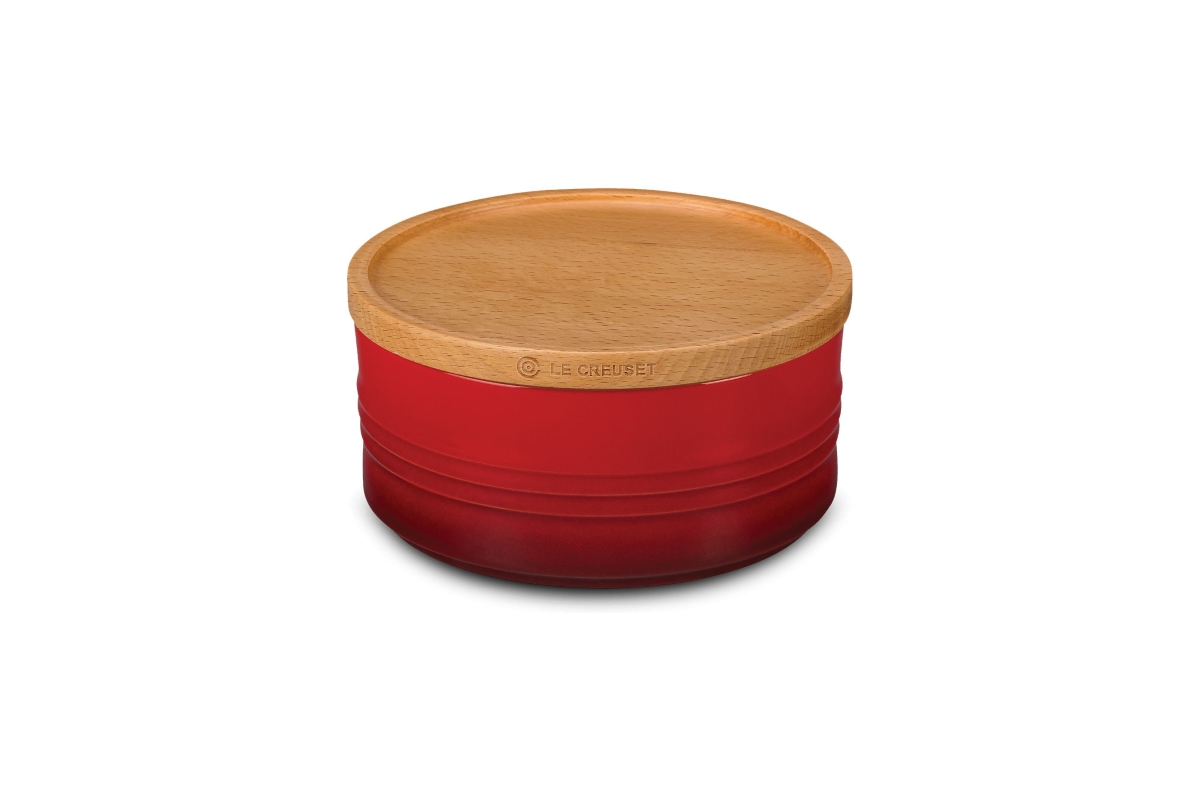 Le Creuset Stoneware Canisters with Wood Lid