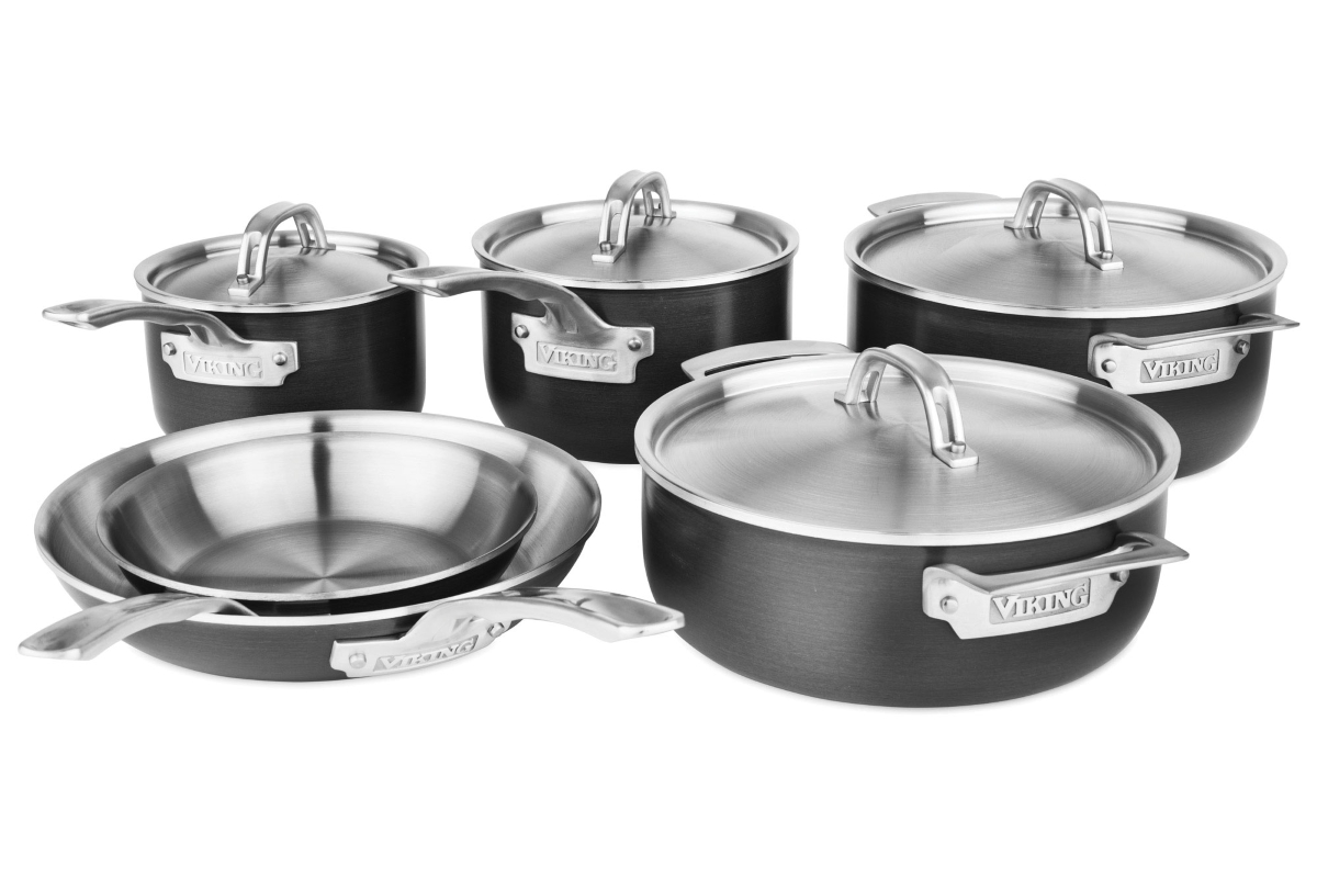 Viking Hard Stainless 10 Piece Cookware Set