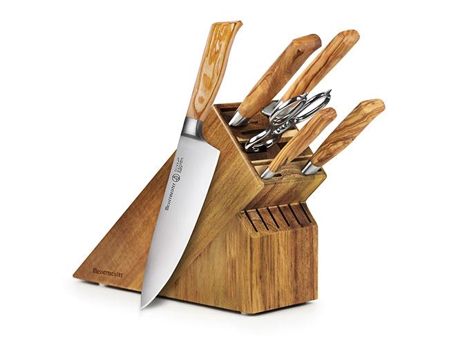 Messermeister Oliva Elite 7 Piece Knife Block Set