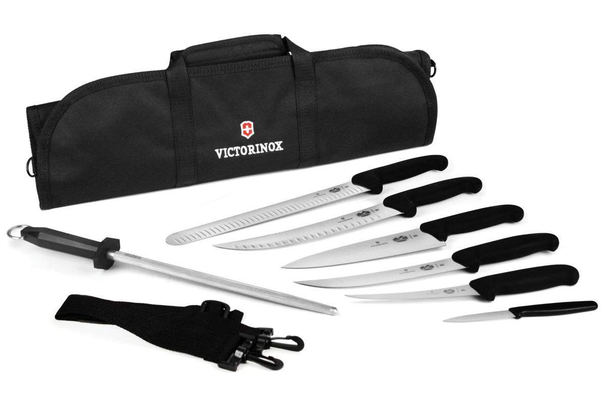 Victorinox Fibrox 8 Piece Ultimate BBQ Knife Roll Set
