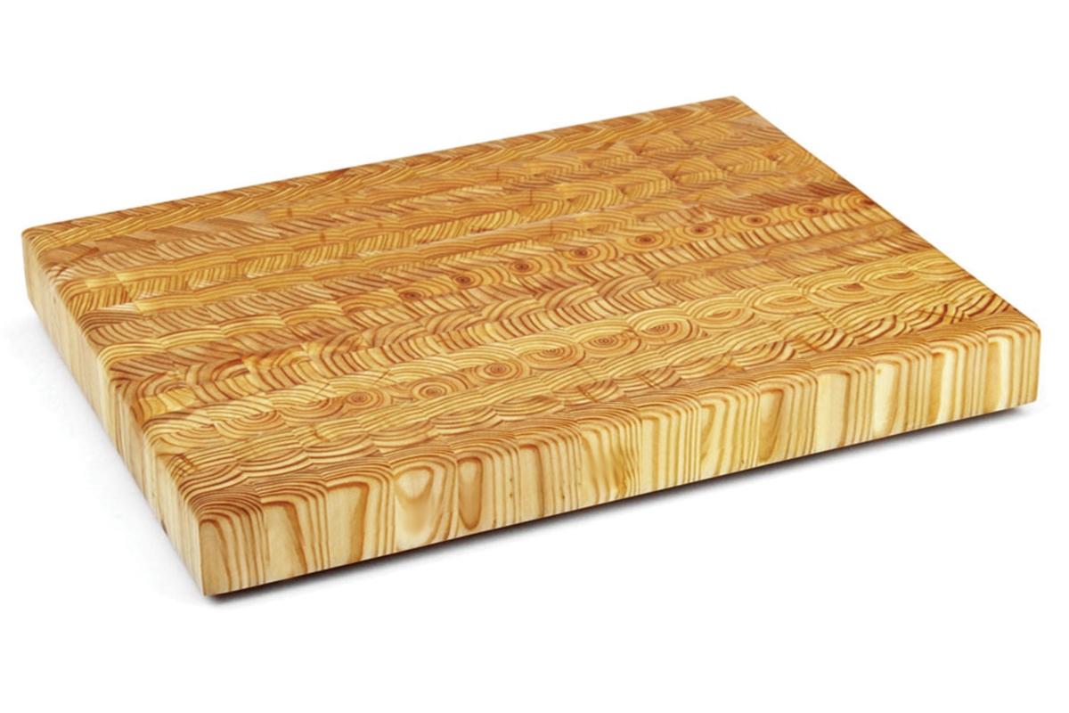 """Larch Wood 21.5x15x2"""" End Grain Cutting Board"""