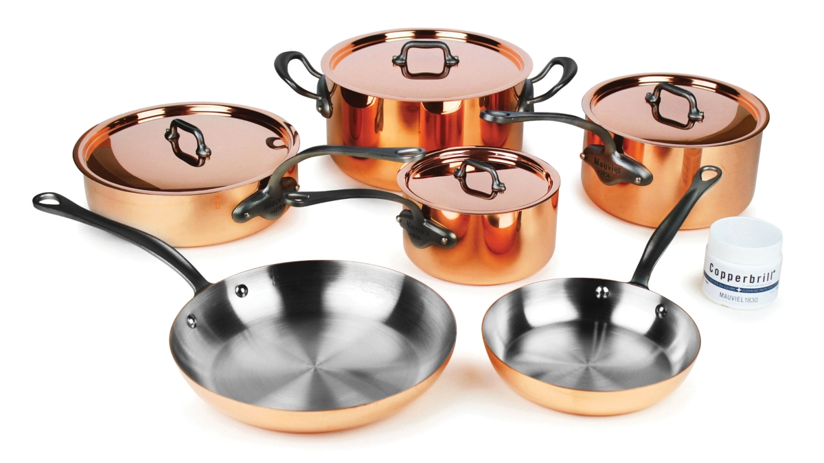 Mauviel M'heritage 150C2 10 Piece Copper Cookware Set