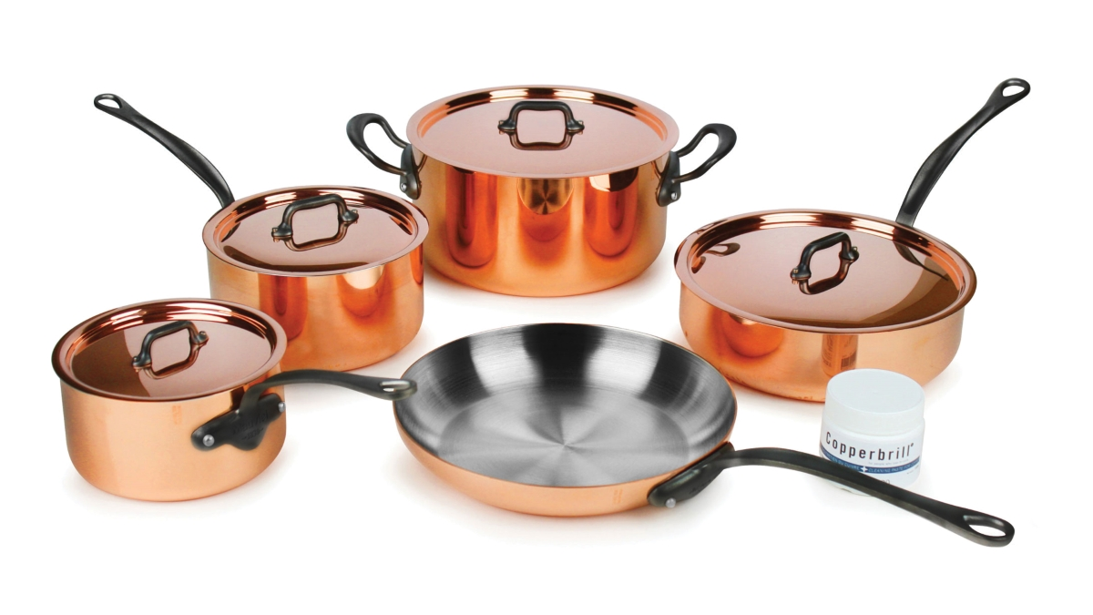 Mauviel M'heritage 150C2 9 Piece Copper Cookware Set