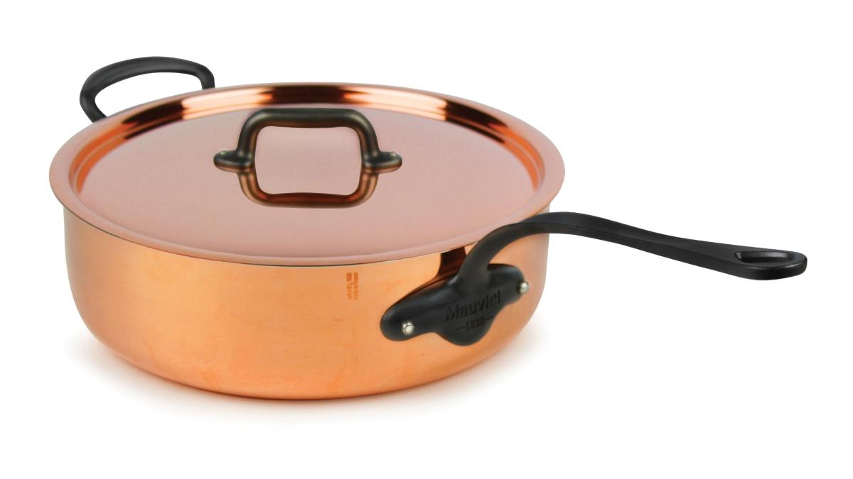 Mauviel M'heritage 150C2 5.8-quart Copper Saute Pan