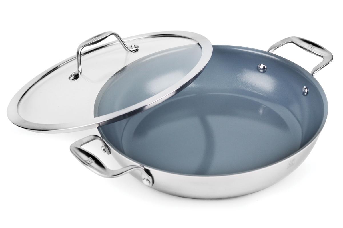 Zwilling J.A. Henckels Spirit 4-quart Stainless Steel Ceramic Nonstick Braiser