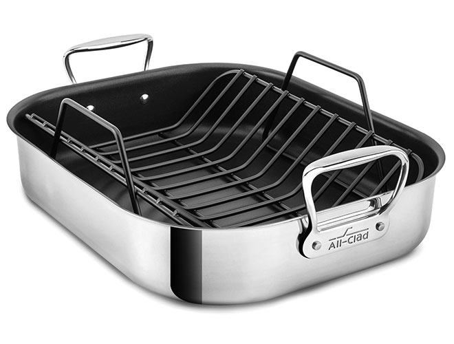 All-Clad Stainless Steel Roasting Pans with Rack
