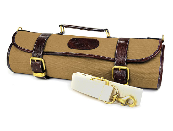 Boldric Canvas Knife Roll 9 Pocket Khaki Cutlery And More