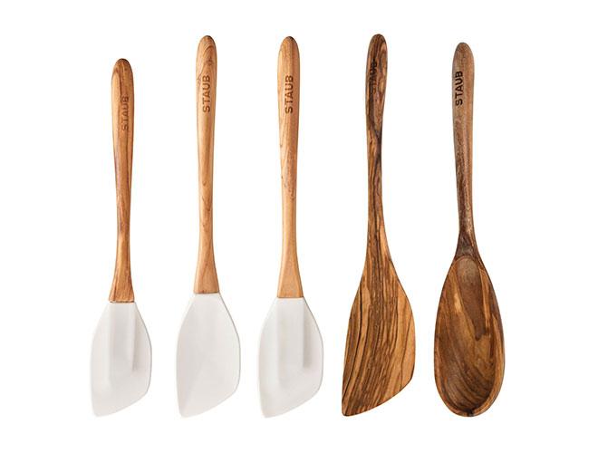 Staub Olive Wood & Silicone Spatula Sets
