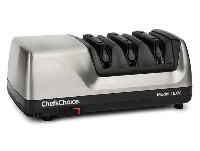 Chef's Choice 3 Stage Brushed Metal Model 15XV Electric Knife Sharpener