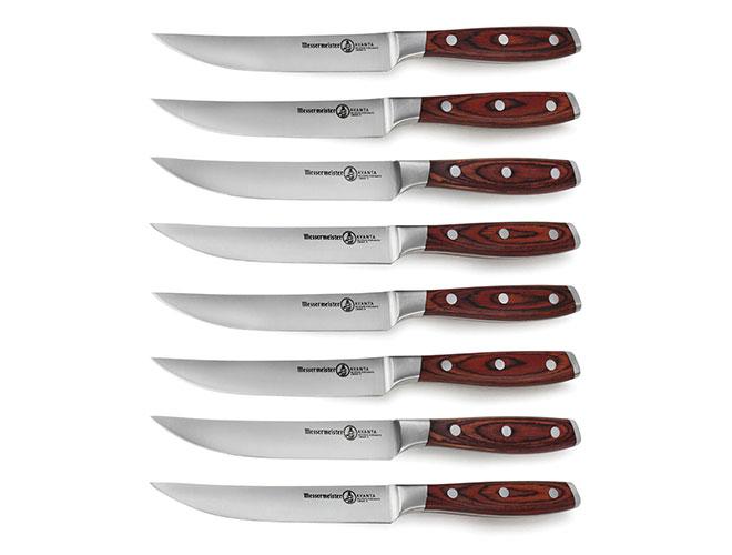 Messermeister 8 Piece Avanta Forged Steak Knife Set with Pakkawood Handles