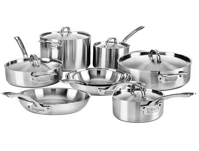 Viking Professional 5-ply 13 Piece Stainless Steel Cookware Set