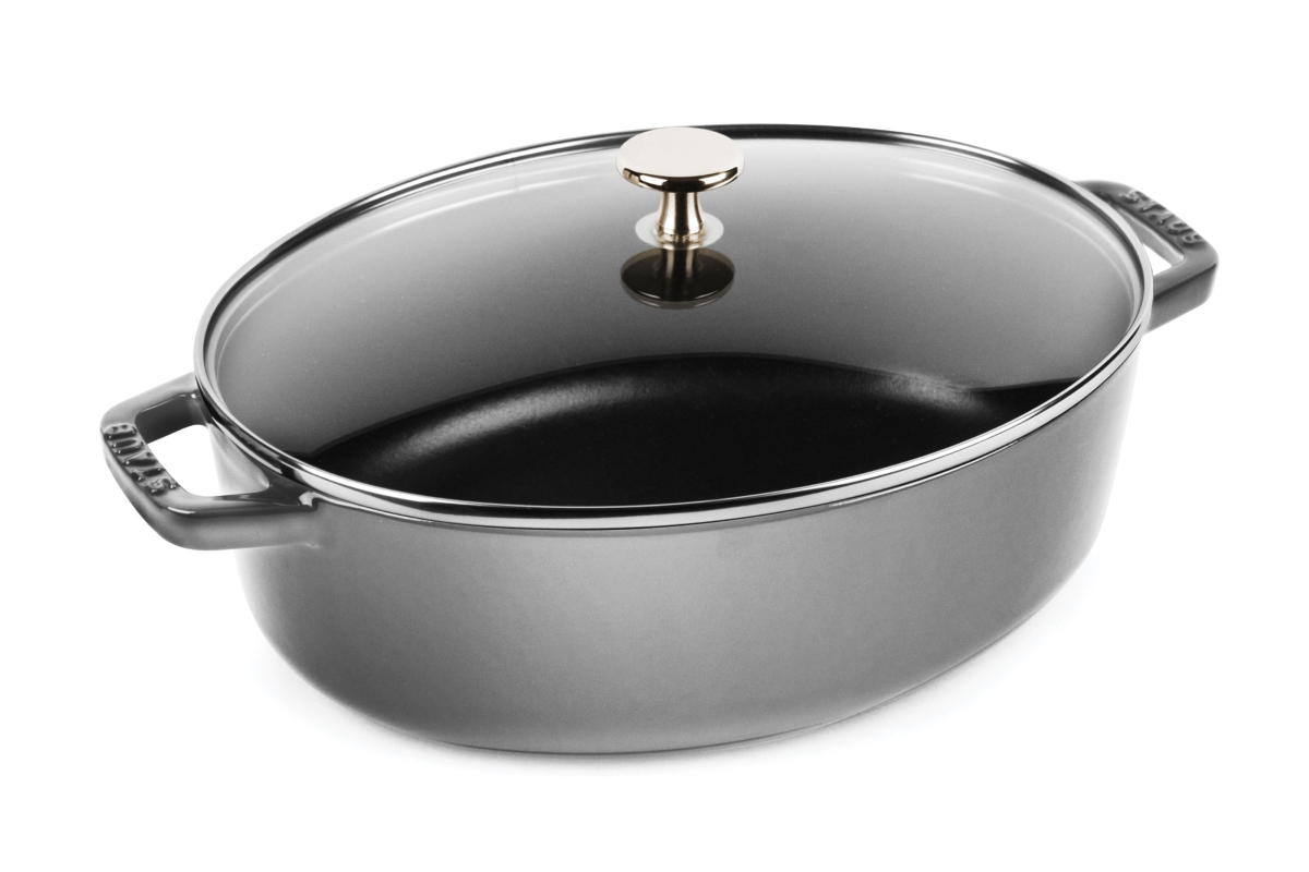 Staub 4.25-quart Oval Cocotte with Glass Lid