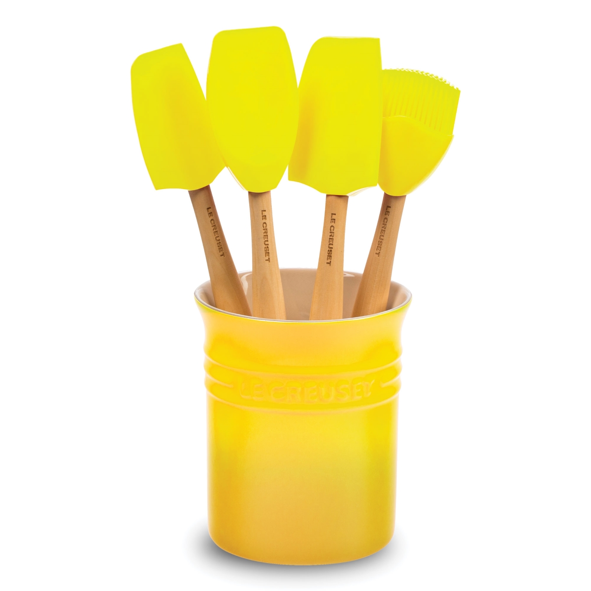 Le Creuset 5-piece Silicone Utensil Set with Crock