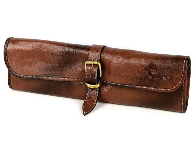 Boldric 8-pocket Leather One Buckle Knife Rolls