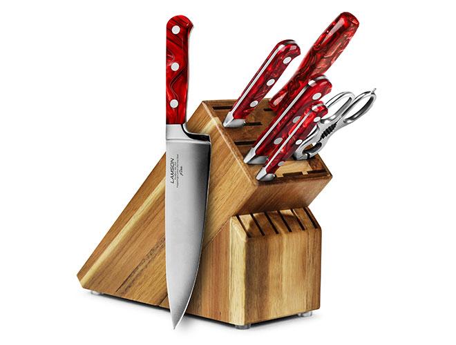 Lamson Fire 7 Piece Acacia Knife Block Set